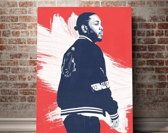 Kendrick Lamar Art - Kendrick lamar Canvas - Kendrick Lamar Print - Digital Print - Canvas Print - Music Poster - Minimalist Art