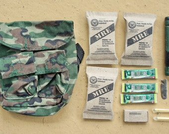 1:6 Scale Miniature Military Survival Backpack