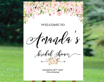 Bridal Shower sign, Bridal Shower Welcome Sign, Bridal Shower decoration, welcome wedding sign, Bridal shower invitation - US_BS0901