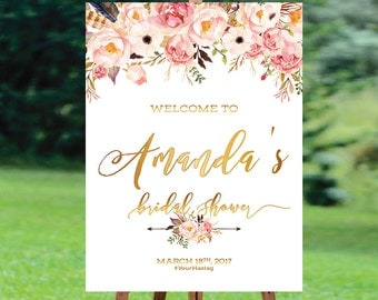 Bridal Shower sign, Bridal Shower Welcome Sign, Bridal Shower decoration, Bridal Brunch Sign, Bridal Tea Sign - US_BSb3