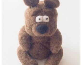 Plush Bear Felted Wool/Teddy bear in felted wool