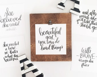 QuoteBoard + Brave Girl QuoteCard Set (5)