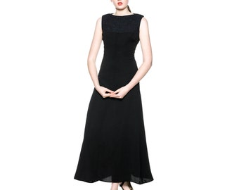 Handmade Maxi Black Dress