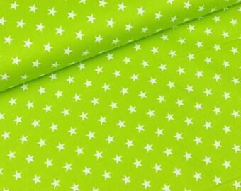 Cotton Carrie White Star on Kiwi (8,90 EUR / meter)