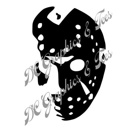 Jason Voorhees Mask SVG EPS Studio3 Cricut Silhouette Cameo