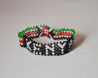 Maasai Beaded Kenyan Flag Bracelet Masai bracelets