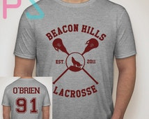 Dylan Obrien 91 Shirt Beacon Hills Lacrosse Tshirt Unisex Size