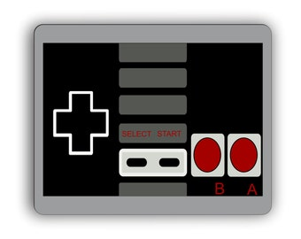 Retro Game Controller Computer Gaming Mouse Pad