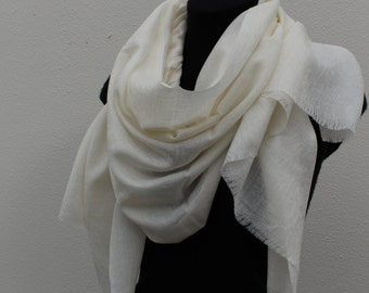 Cashmere Scarf - Soft Ivory