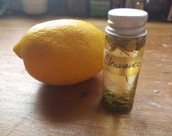 Clearance Anointing Oil to sever connections and cleanse negativity Herbal Anointing Oils from The Cunning Toad (sold as curio)