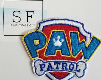 Paw Patrol Iron on Patch - Paw Patrol Applique' - Ready to Ship