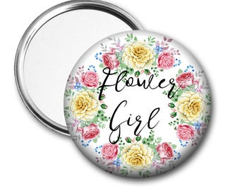 Yellow Rose Flower Girl 58 mm 2.5 inch Pocket Mirror