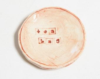 Handmade Ceramic Teabag Holder