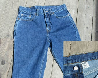 80s Levis 505  30 / 6-8  High Waist / Slim Fit/ Made in USA / Straight Leg 1980s  Zip Fly Jeans 9 Jr