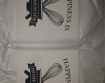 Happiness is Homemade Trivets, Set of 2