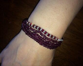 Garnet or Spinel necklace or bracelet