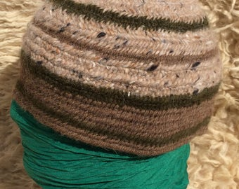 100% Wool Viking Norse Nalbinded Nalbinding Naalbinded Hat, Anglo Saxon,Medieval, Reenactment, Living History, SCA, LARP