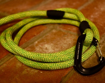Recycled Climbing Rope Dog Leash - Citrus