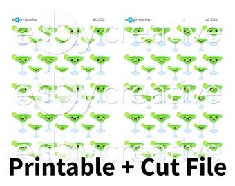 Margarita Deco  - Printable Planner Stickers + Cut File - AL-026 - INSTANT DOWNLOAD