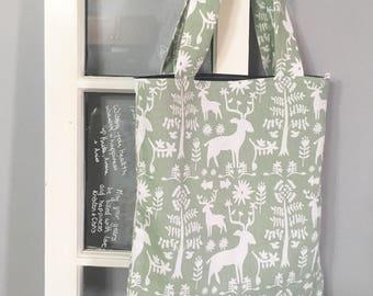 Forest tote bag, book bag, laptop bag