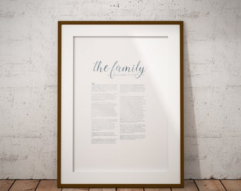 LDS Family Proclamation Watercolor 2 | The Family A Proclamation To The World | 8x10 | Minimalist | Instant Download| LDS Decor | LDS Quote