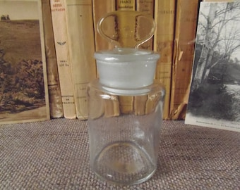 Antique French Apothecary Bottle with Original Stopper