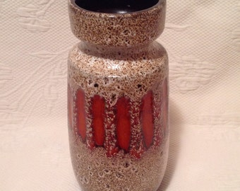 """Vase Scheurich """"lava"""" 242-22 / / made in West Germany"""