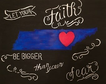 "8""x10"" Thin Blue Line Canvas"