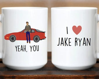 Yeah You / Jake Ryan / Sixteen Candles / Molly Ringwald / 80s movies / Brat Pack / Funny Mug / I Love Jake Ryan / 80s / 16 candles