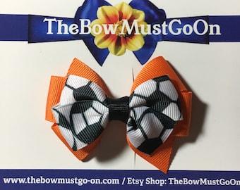 Soccer Hair Bow/Soccer Bows/Sports Bows/Sport Hair Bows/Soccer Bow/Soccer Hair Clips/Soccer print bow/Soccer Hair Tie/Soccer Hair Clip