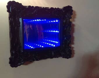 Infinity Mirror electric blue 11 in x 8 in