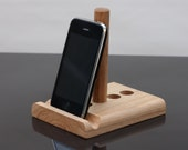 Tablet stand and Phone stand Adjustable Universal iPad Kindle kitchen desktop bed iPhone any phone  Leanii natural oak