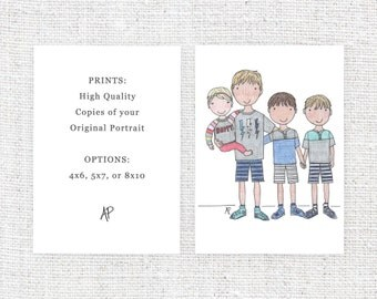 ADD ON | Additional Prints of Previously Ordered Original Custom Portrait (Available in 4x6, 5x7, or 8x10)