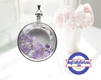 CLEARANCE Crystal PENDANT, Reiki Natural Amethyst +99cent SHIPPING & Discounts*