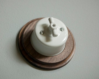 Wooden period pattresses + ceramic light switch