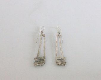 Handmade silver earrings