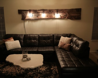 Barn wood lamp