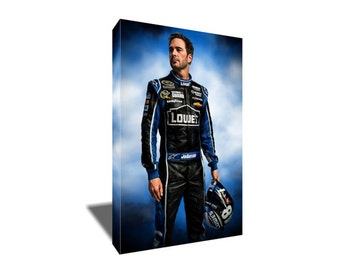 FREE SHIPPING Nascar Driver Jimmie Johnson Canvas Art
