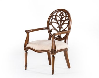Federal Oval Back Solid Mahogany Armchair