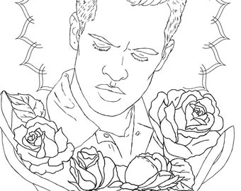 disco coloring pages | Panic at the disco | Etsy