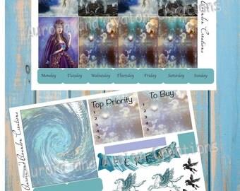 Pegasus weekly kit for Happy Planner, Erin Condren, Erin Condren Horizontal