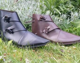 Medieval shoes viking adjustable ankle Ulminon.