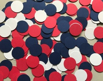 Red, White, and Blue Dot Confetti - Nautical Party Decorations - 4th of July Decorations - Fourth of July Party - Patriotic Party Decor