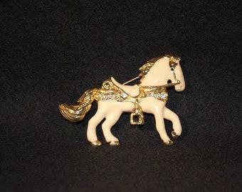 Vintage Horse Brooch