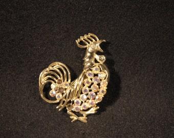 Vintage Rooster Brooch
