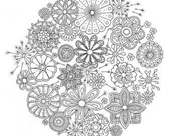 Colouring Sheet - Dandelion Mandala