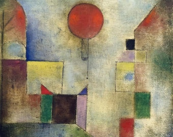 Paul Klee : Red Balloon (1922) Canvas Gallery Wrapped Wall Art Print