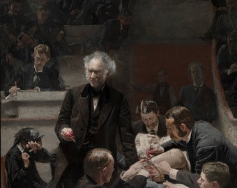 Thomas Eakins : The Gross Clinic (1875) Canvas Gallery Wrapped Wall Art Print