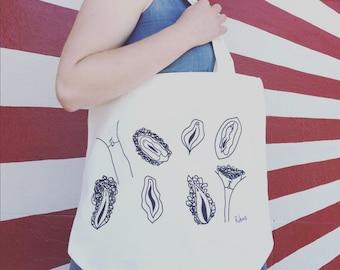 Vagina tote Bag
