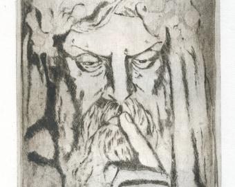 "original engraving ""silence"""